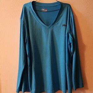 Women's 3x Fila long sleeved shirt